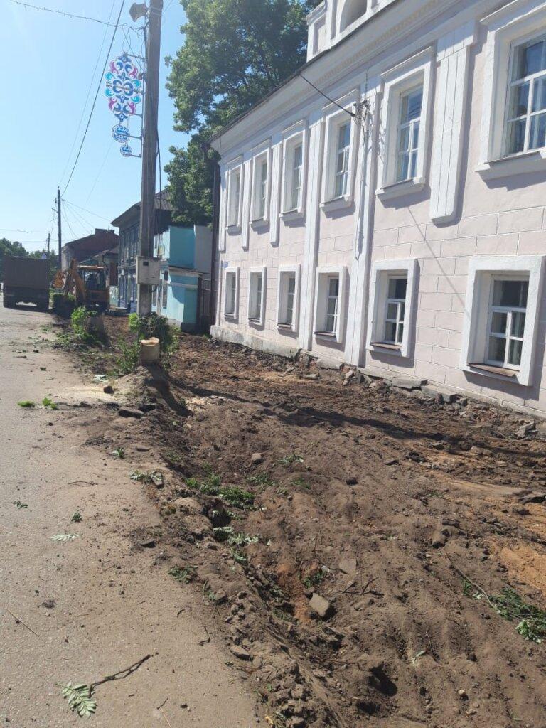 В Тверской области начали ремонт на улице Советской