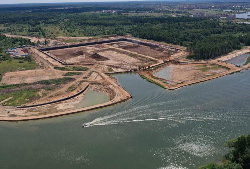В Тверской области строят речной порт