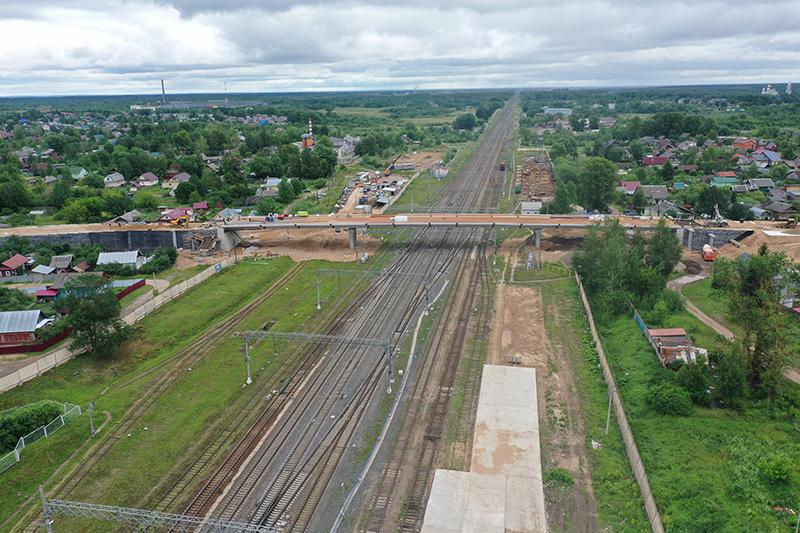 В Тверской области идет реконструкция путепровода через Октябрьскую железную дорогу в Вышнем Волочке