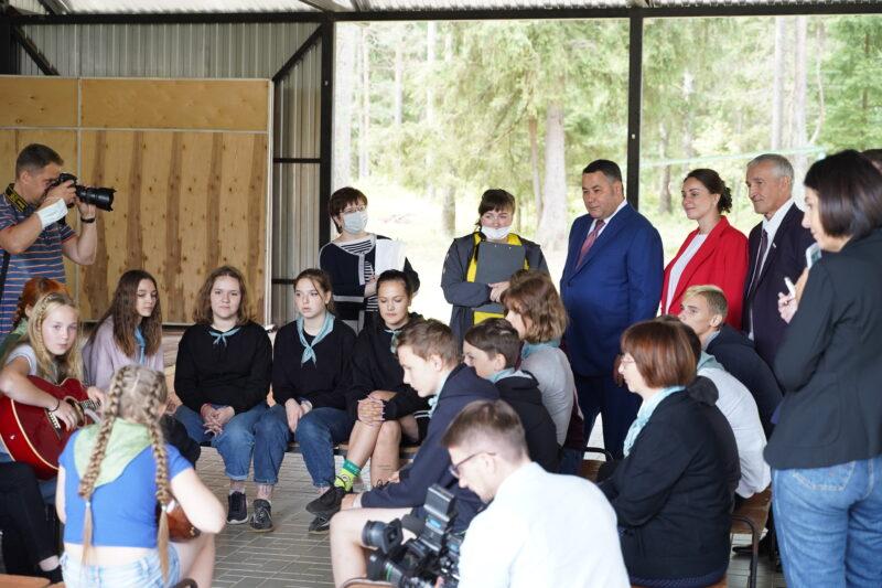 В Максатихинском районе Игорь Руденя проинспектировал работу летнего оздоровительного лагеря