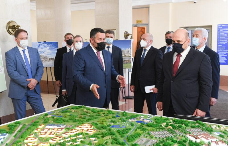 Губернатор Игорь Руденя представил Михаилу Мишустину объекты туристской инфраструктуры в ОЭЗ «Завидово»