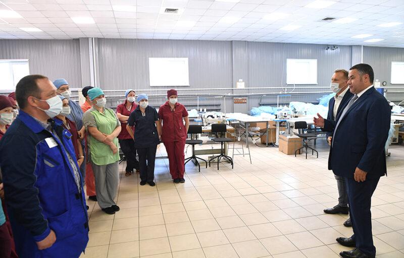 В Торопецком районе Игорь Руденя посетил производство медицинских изделий