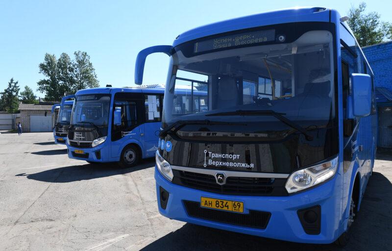 В Тверской области за первые выходные июля новые автобусы «Транспорта Верхневолжья» перевезли порядка 50 тысяч пассажиров