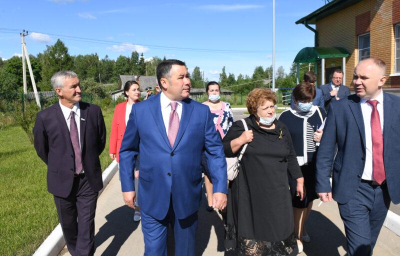 Во время рабочей поездки Игорь Руденя ознакомился с работой нового детского сада в поселке Ривицкий
