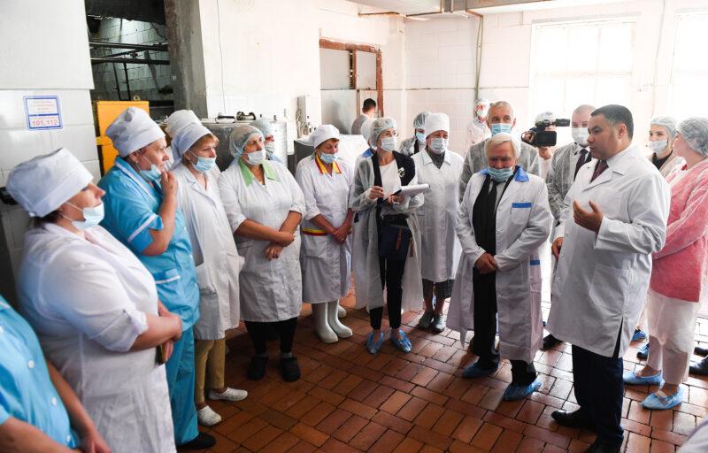 Губернатор Игорь Руденя посетил Максатихинский маслодельный завод