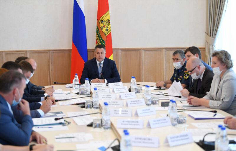 Губернатор Игорь Руденя провел совещание с членами Правительства