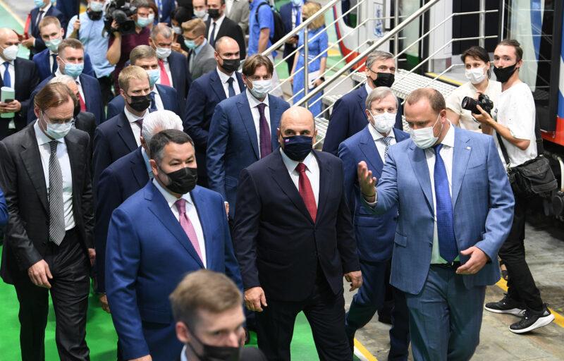 Председателю Правительства РФ Михаилу Мишустину и Игорю Рудене были представлены современные разработки ТВЗ