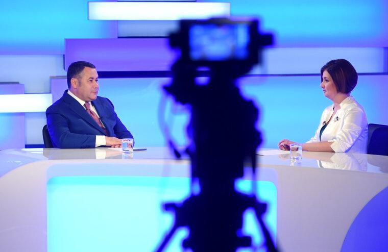 Игорь Руденя ответил на главные вопросы жителей Тверской области в прямом эфире