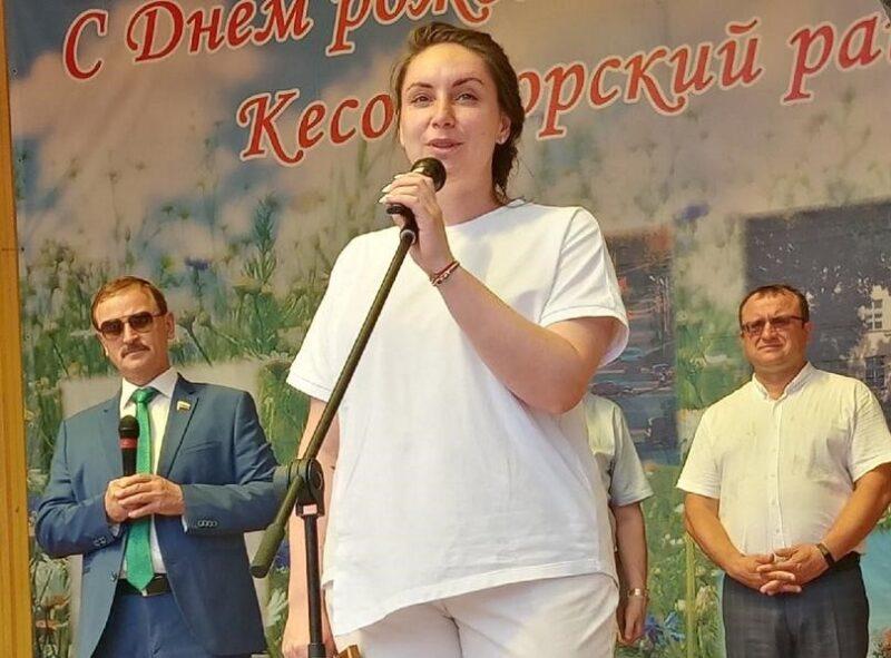 Юлия Саранова посетила Кесовогорский район