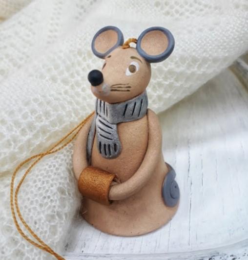 Тверской Детский музейный центр предлагает слепить колокольчики в виде мышки и кота