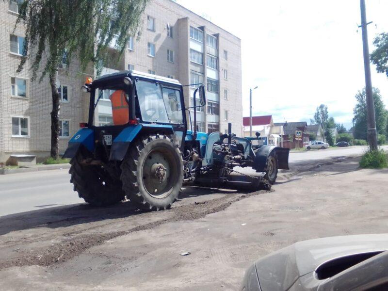 В Ржеве продолжают поддерживать чистоту и порядок