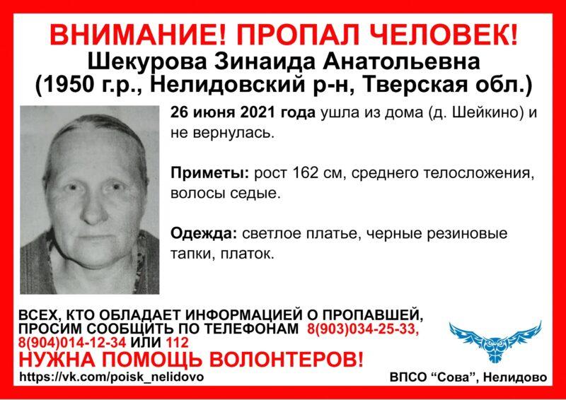 В Тверской области ищут пожилую жительницу в светлом платье
