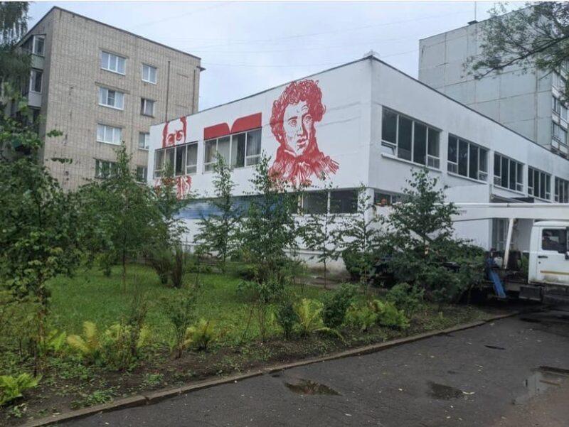 В Тверской области на стене библиотеки появилось новое граффити