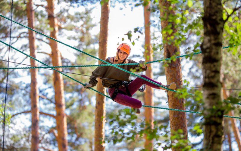 Верёвочный парк в Ландшафтном парке Тьмака возобновил работу