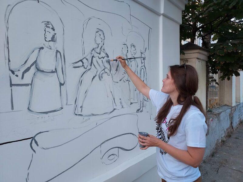 Историческое граффити на Студенческом переулке станет новой достопримечательностью Твери