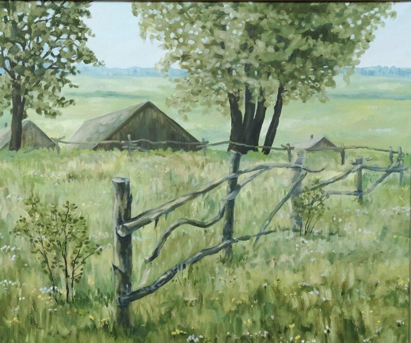 О тверском крае на выставке расскажут живопись и графика Николая Илюшина