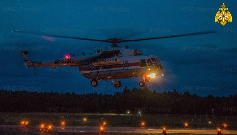 Вертолет санавиации вылетал за пациентом в Кимрский район