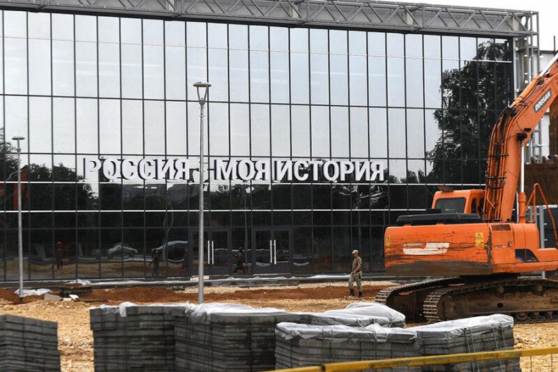 В Твери продолжается строительство мультимедийного парка «Россия – Моя история»