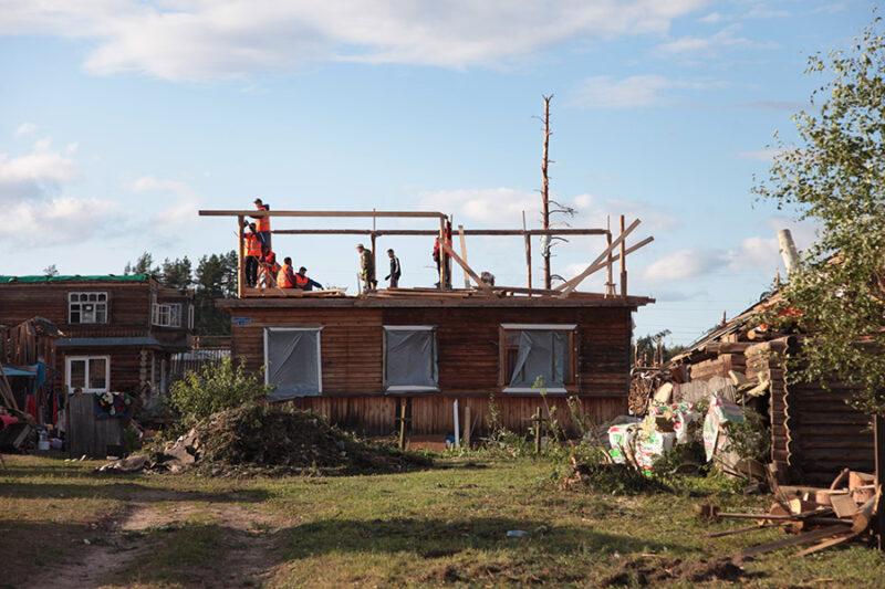 В Андреаполе продолжаются восстановительные работы