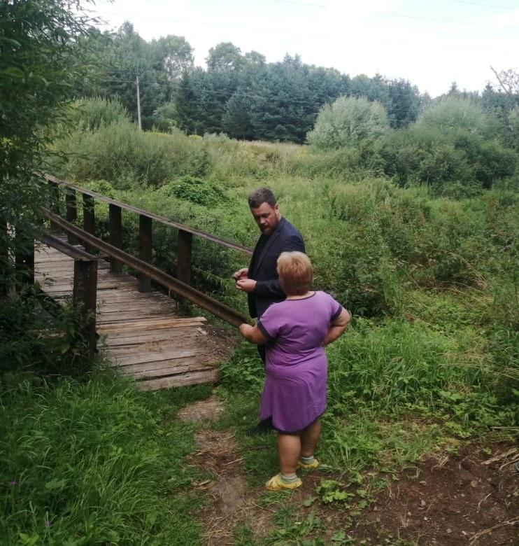 В Ржеве по просьбе жителей отремонтируют пешеходный мост