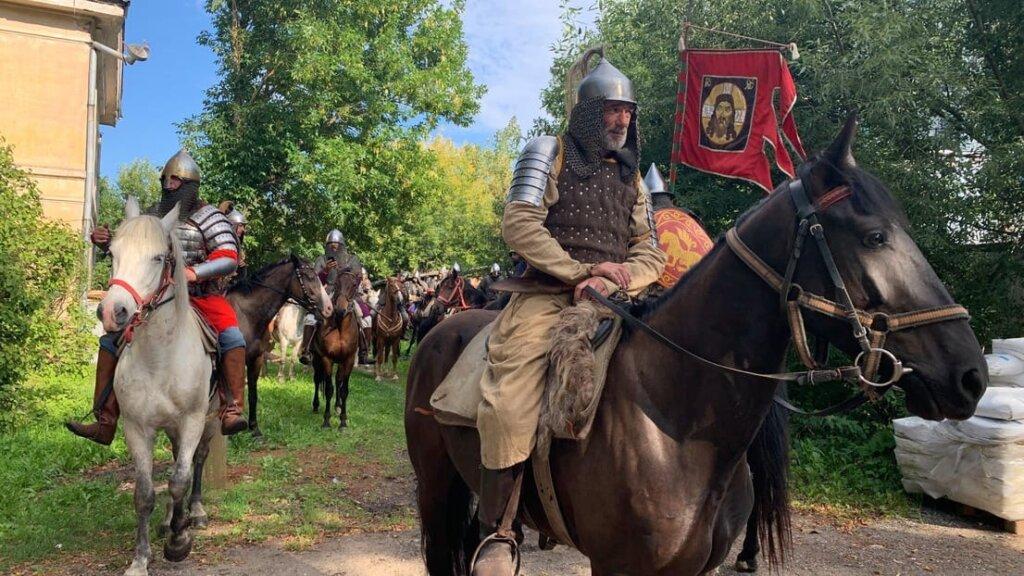 Конная дружина Александра Невского побывала в Торжке