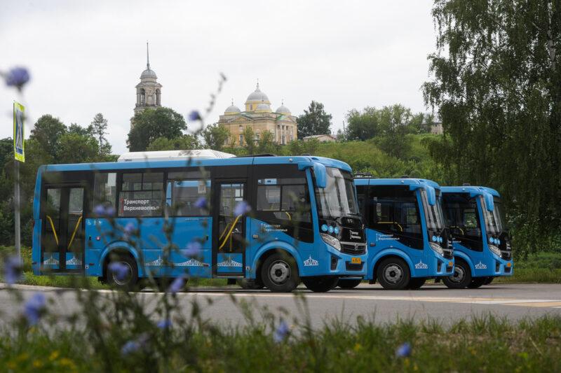 Почти 21 миллион поездок совершено в автобусах «Транспорта Верхневолжья» в Твери и Калининском районе летом 2021 года