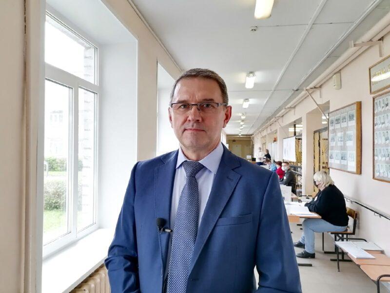 Глава Бежецкого района Игорь Павлов проголосовал на выборах