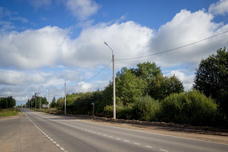 В городе Тверской области на одной из улиц установили освещение