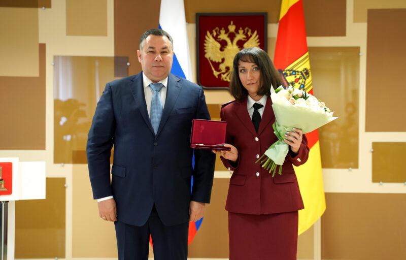 Игорь Руденя вручил награды сотрудникам Управления Роспотребнадзора по Тверской области
