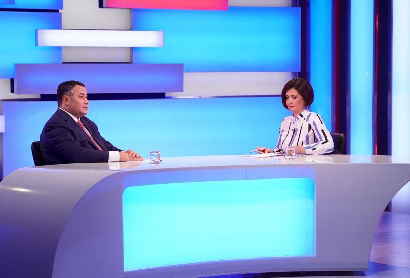 Благоустройство, дороги и газификация: какие важные темы поднимет Игорь Руденя в прямом эфире