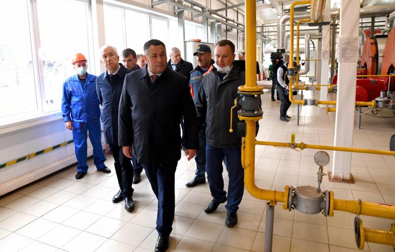 Глава региона Игорь Руденя осмотрел автоматизированную котельную в Нелидово