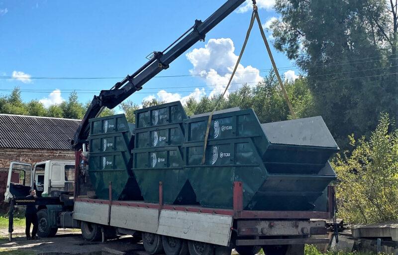 В город Ржев поставлены новые контейнеры для сбора мусора