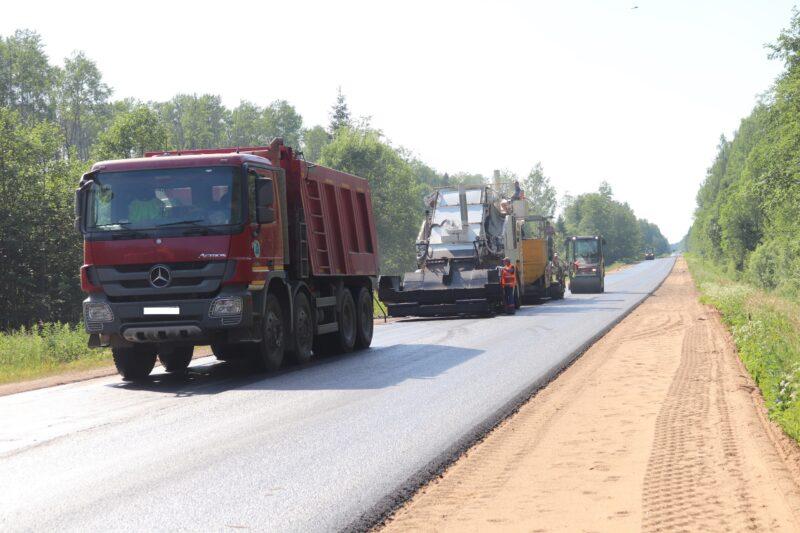 В Тверской области уложено более 2 млн квадртных метров асфальтобетона