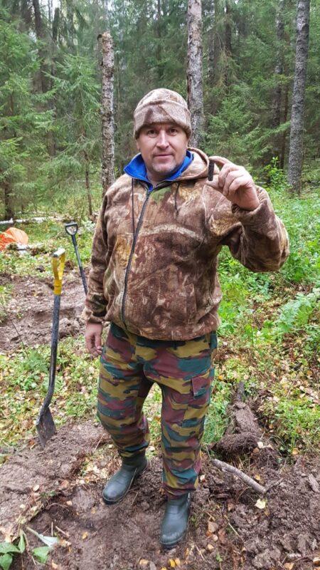 На территории Ржевского района поисковики нашли останки трех бойцов Красной Армии