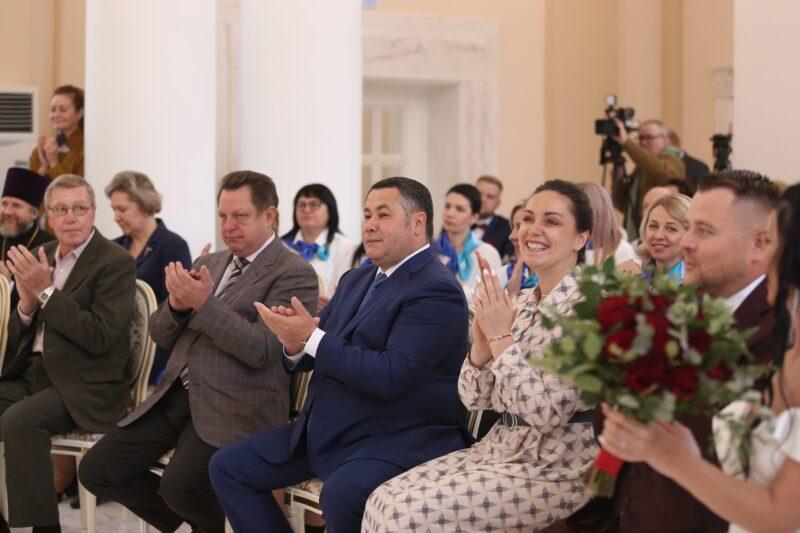 Фоторепортаж: в Твери открылся Дворец бракосочетания