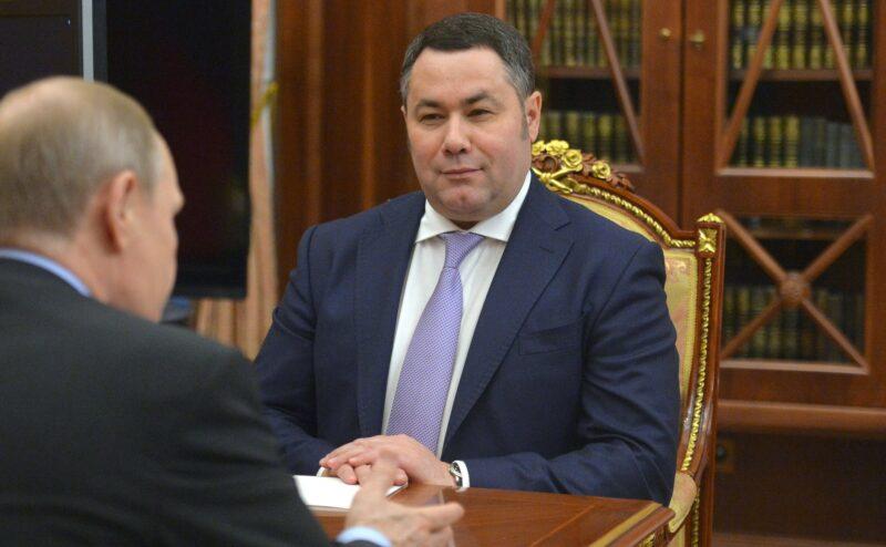 Губернатор Тверской области занял седьмое место в медиарейтинге глав регионов России за август