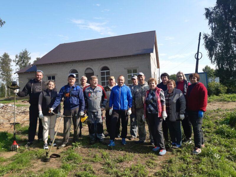 В Лихославльском районе ремонтируют ДК и благоустраивают прилегающую территорию