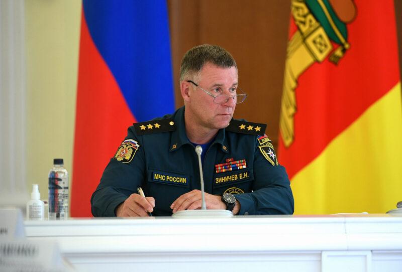 Игорь Руденя выразил соболезнования в связи с трагической гибелью главы МЧС России Евгения Зиничева