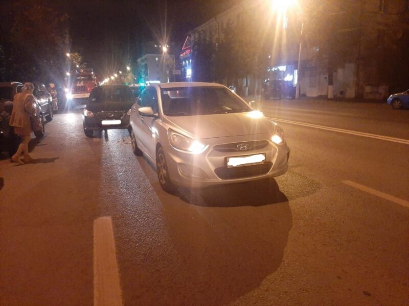 В Твери на проспекте Ленина столкнулись три иномарки