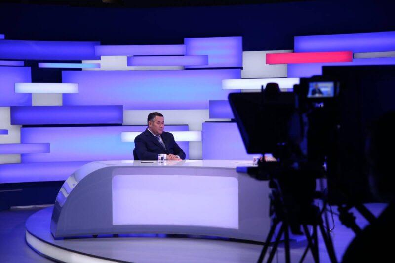 Ключевые проекты и встреча с Владимиром Путиным: Игорь Руденя ответил на вопросы в прямом эфире