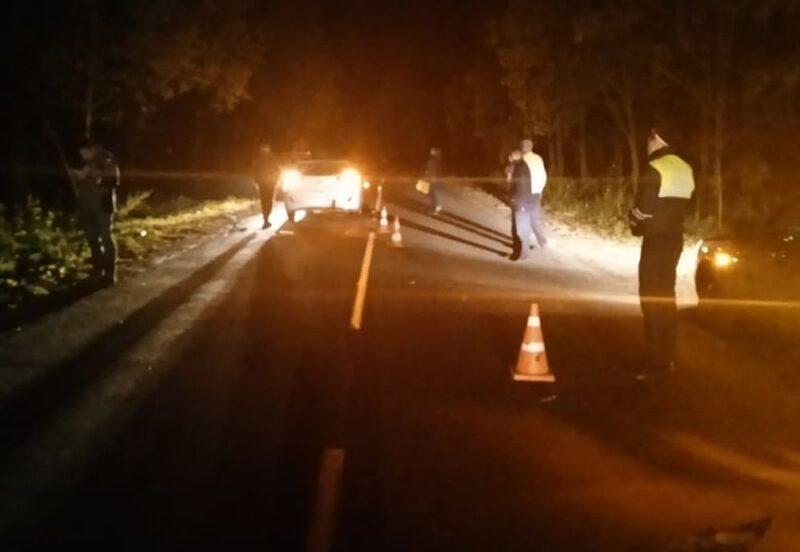 В Тверской области автомобиль сбил пешехода посреди автодороги