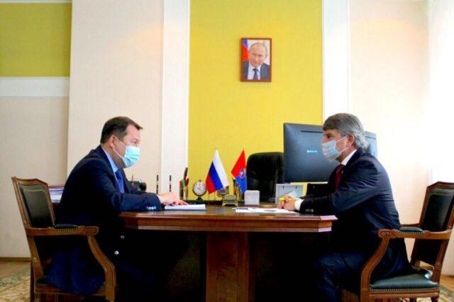 Максим Егоров и Игорь Маковский провели рабочую встречу в Тамбове