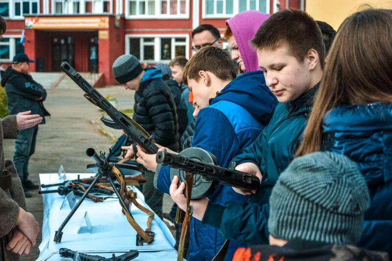 В тверской школе для детей провели спортивно-патриотический праздник