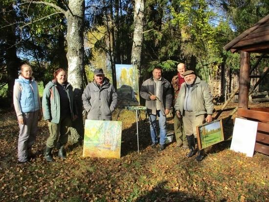 Художники из Андреаполя приняли участие в пленэре в Центрально-Лесном заповеднике