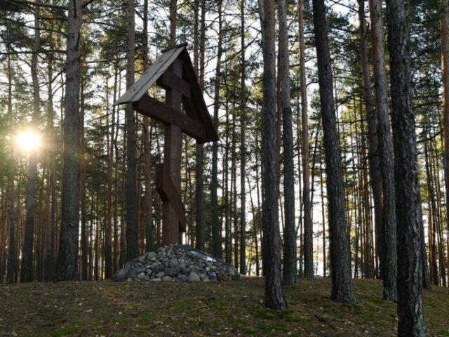 На месте прощания Михаила Тверского с Анной Кашинской в Тверской области освятили поклонный крест