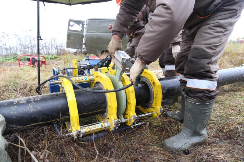 К четырем населенным пунктам Калязинского района началось строительство межпоселкового газопровода