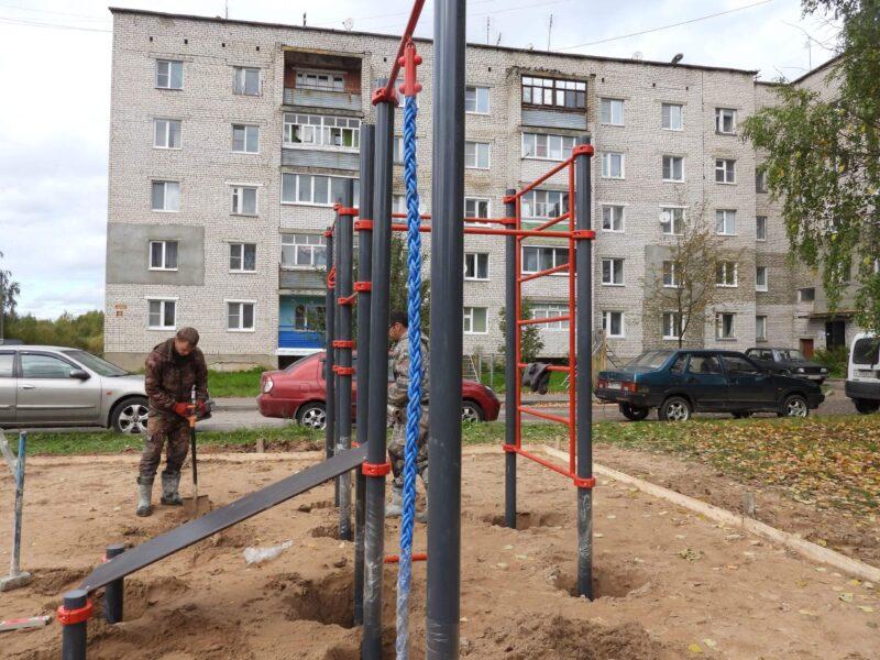 В Калязине появятся игровые формы, тренажеры и детские площадки