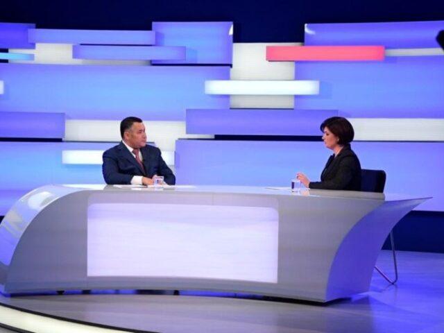 QR-коды, вакцинация и транспорт: Игорь Руденя ответил на актуальные вопросы жителей Верхневолжья в прямом эфире